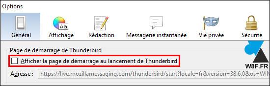 Thunderbird: ya no muestra la pantalla de bienvenida 3