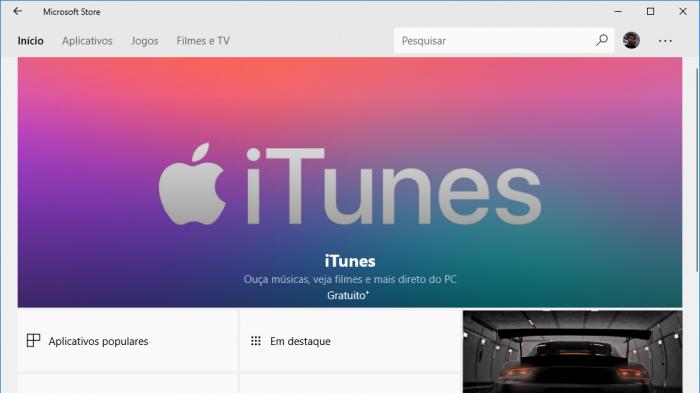 Apple lanza iTunes en el Windows 10 Store