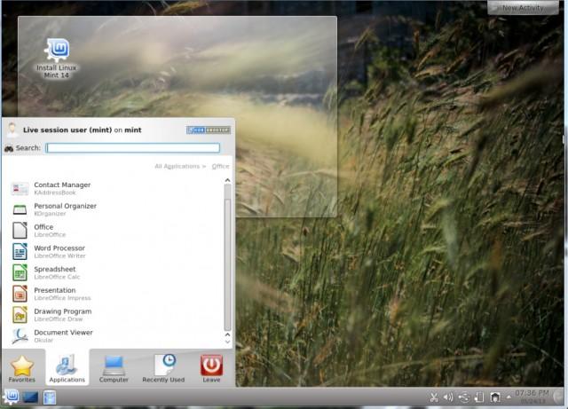 Linux Menta KDE 14 2