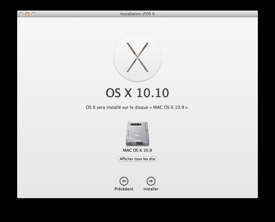 Cómo hacer un Yosemite Mavericks de arranque dual (Mac OS X 10.10 / 10.9) 3