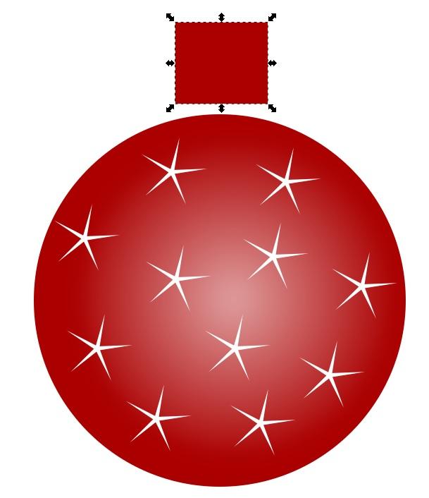 Cómo dibujar una pelota de Navidad con Inkscape 11
