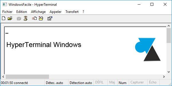 HyperTerminal en Windows 10 1