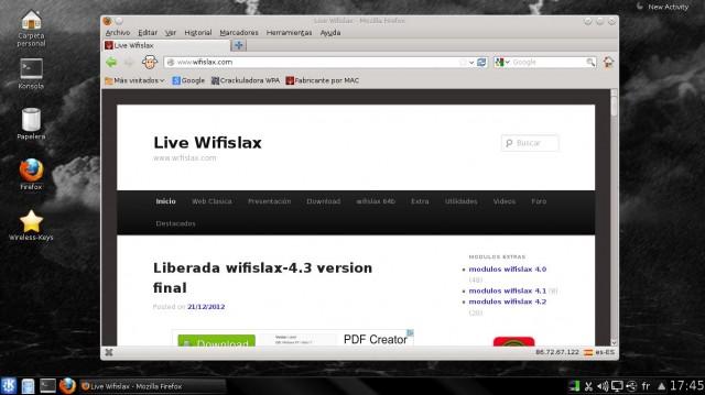 Versión final de Wifislax 4.3 4