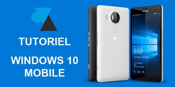 Windows 10 Mobile: desinstalación de una aplicación 1
