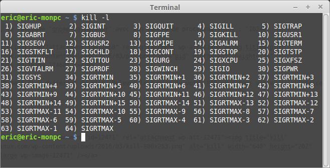 Cómo detener un proceso en un programa de Linux 3