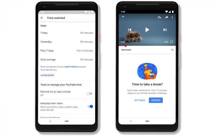 YouTube muestra el tiempo que has pasado viendo vídeos