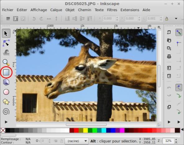 Recorte una foto o imagen con Inkscape. 3