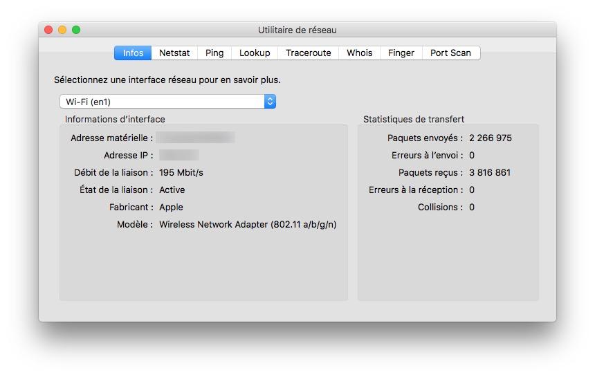 Visualizar la velocidad del tráfico de red en Mac (Wi-Fi, Ethernet, 4G...) 2