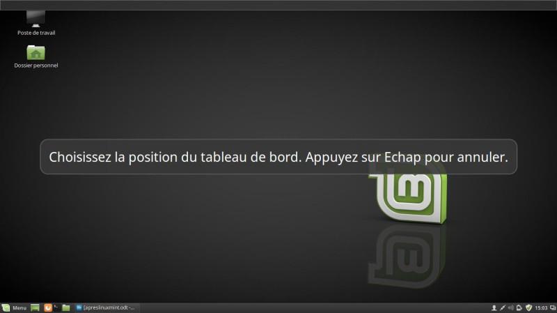 Un muelle para Linux Mint 18 3