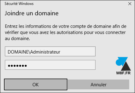 Windows 10 (1709): unirse a un dominio local 8