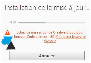 Adobe Creative Cloud: corrige el error 2 o 50 2