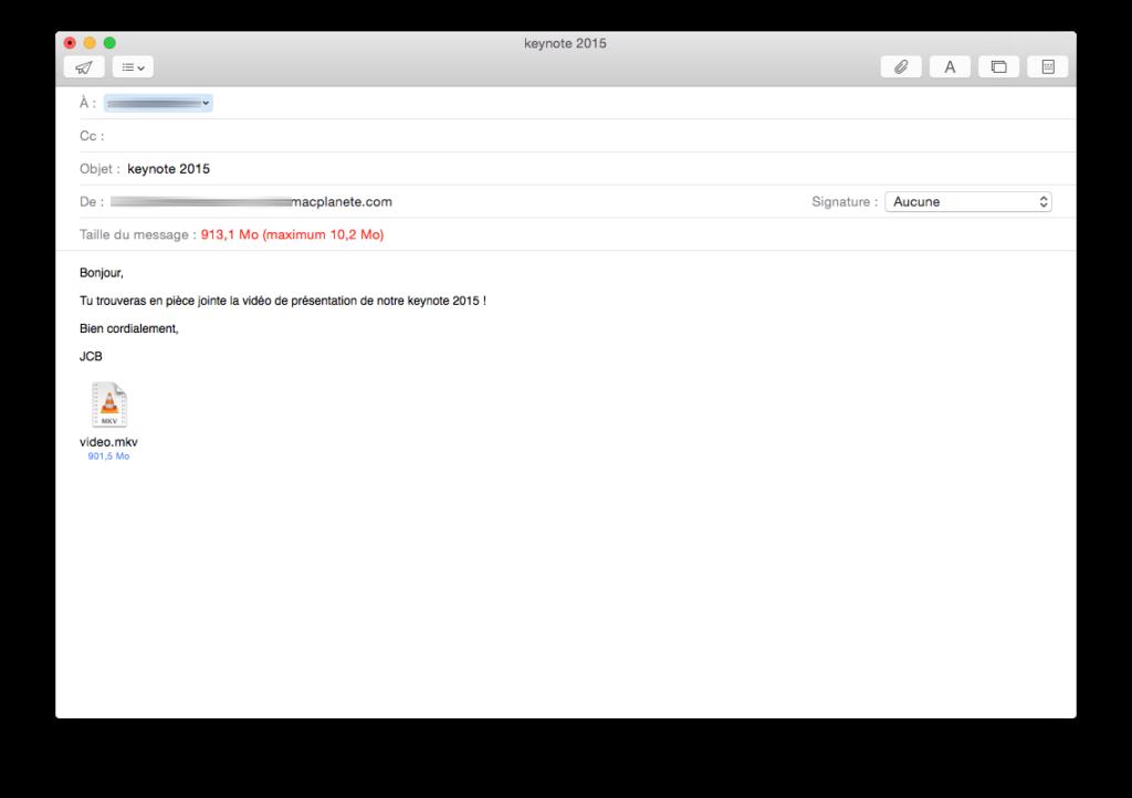 Descarga de correo: Envía un archivo adjunto de 5 GB con Apple Mail / iCloud Mail 3