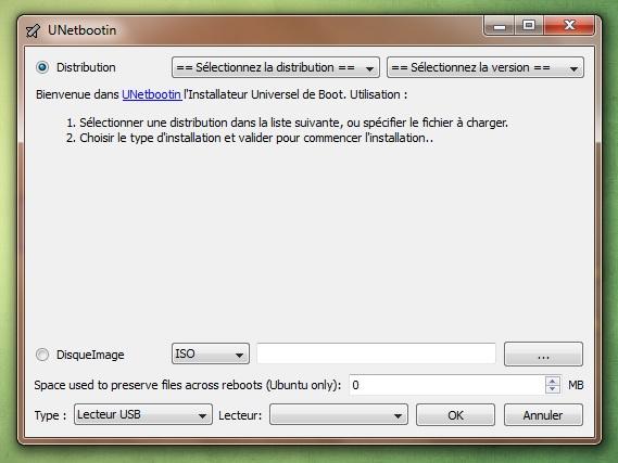 UnetBootIn para iniciar su distribución desde una llave USB 1