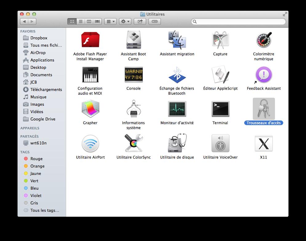Llavero, Kits de acceso: Gestiona tus contraseñas de Mac OS X e iOS 2