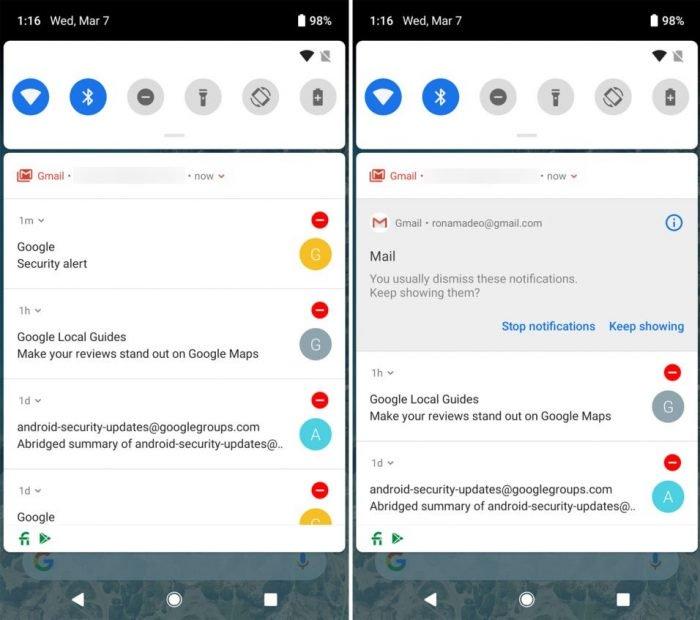 La pequeña noticia en el primer avance de Android Pie 3