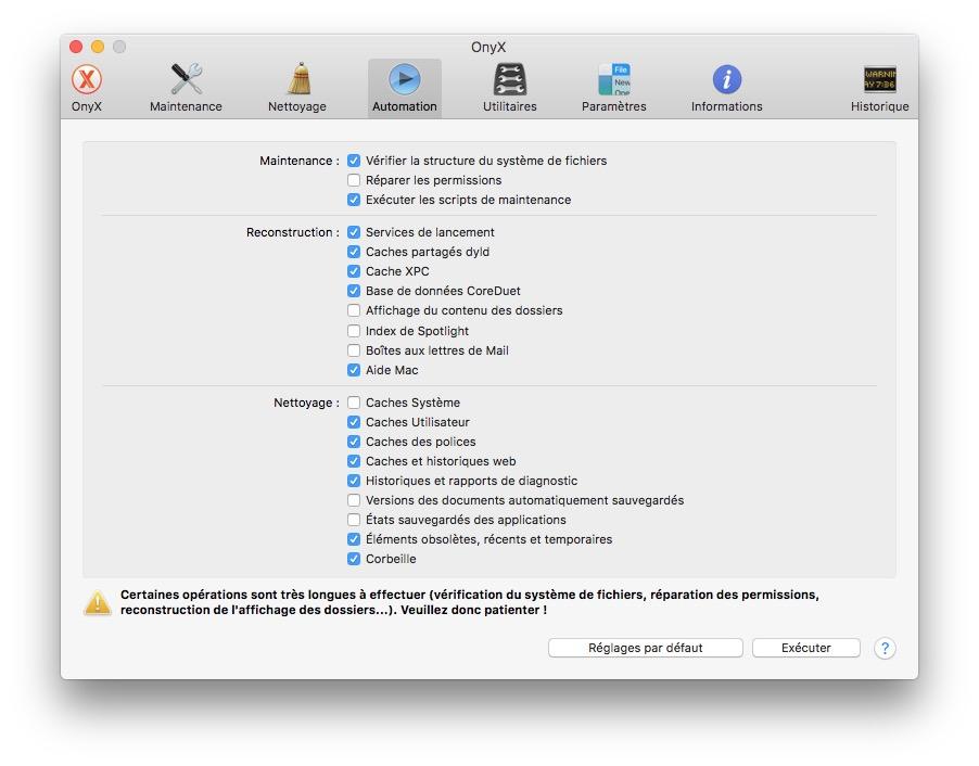 Onyx macOS Sierra (10.12) : instrucciones de uso 7