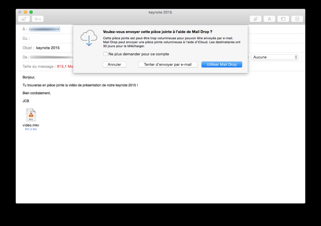 Descarga de correo: Envía un archivo adjunto de 5 GB con Apple Mail / iCloud Mail 4