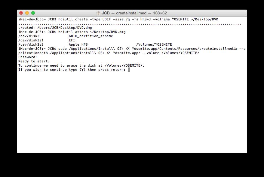 Crear un DVD de arranque de Yosemite (Mac OS X 10.10) 5