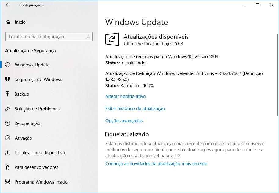 Microsoft lanza October Windows 10 Update para usuarios avanzados 2