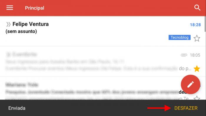 Gmail para Android te permite cancelar el envío de mensajes de correo electrónico 1
