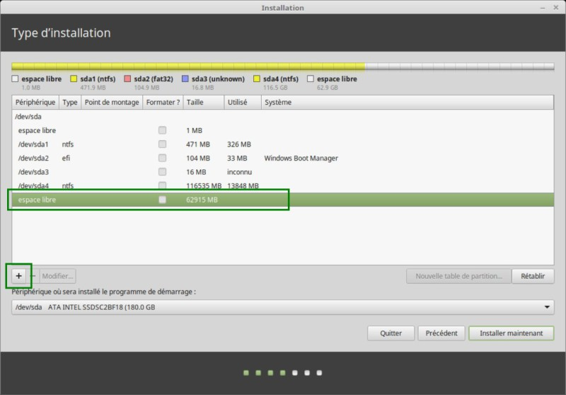 Instalar Linux Mint junto a Windows 10 UEFI GPT 5