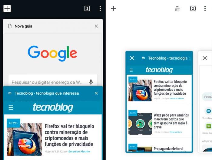 Google prueba la nueva pantalla con pestañas en Chrome para Android 1