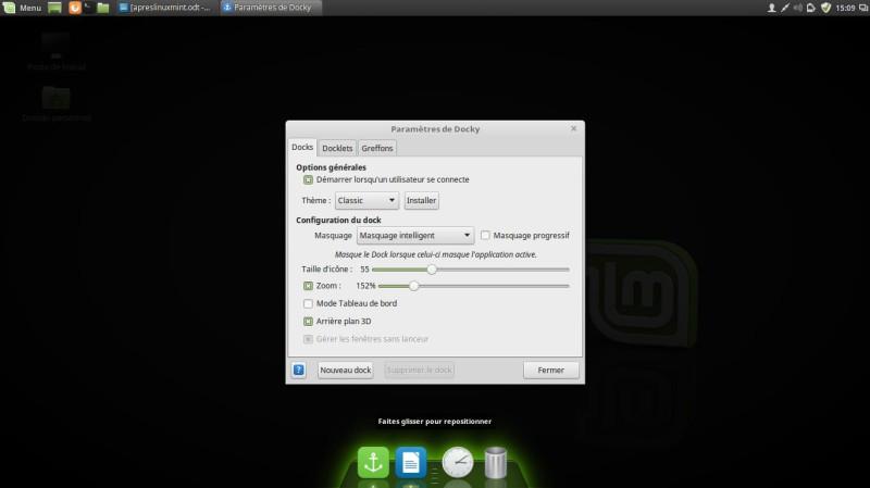 Un muelle para Linux Mint 18 9