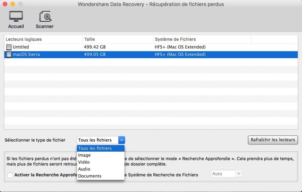 Recuperación de datos borrados en Mac OS Sierra (10.12) 2