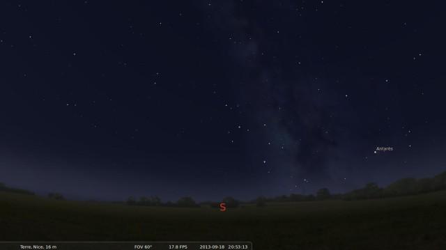 Cabeza en las estrellas con Stellarium 6