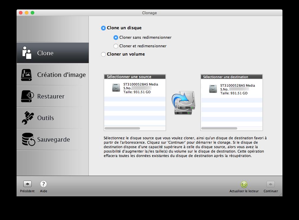 Clone El Capitan Mac OS X (10.11) : copia perfecta en disco 2