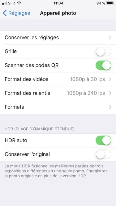 Escanear un código QR con un iPhone bajo iOS 11 1