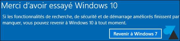 Cancelar la actualización de Windows 10 y volver a Windows 7 8