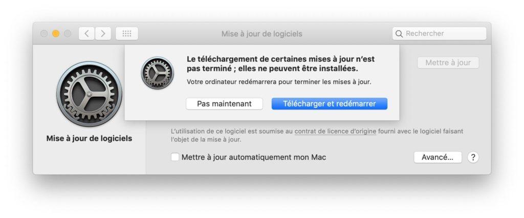 Actualización adicional de macOS 10.14.3 3