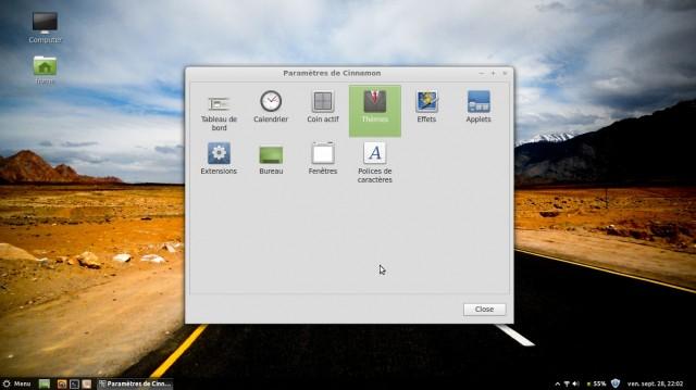 Modificar el tema del menú y la barra de tareas de Linux Mint Maya Cinnamon Mint 3