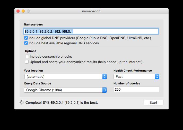 DNS Yosemite: encuentre el más rápido para acelerar el Internet 2