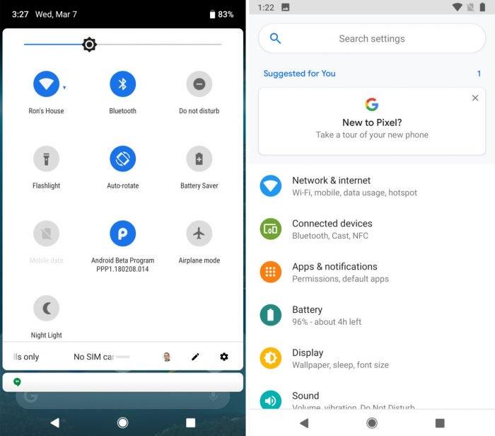 La pequeña noticia en el primer avance de Android Pie 7