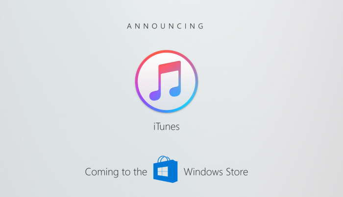 Apple retrasa la publicación de iTunes para el Windows 10 Store