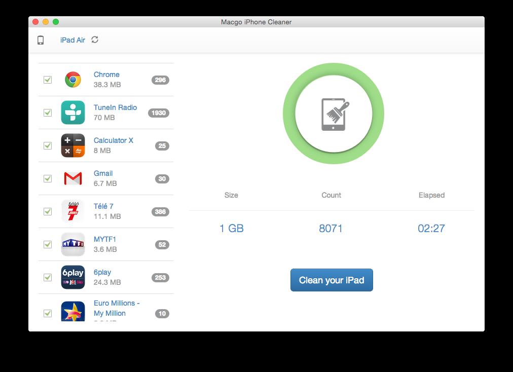 Cómo limpiar tu iPhone iPad bajo Mac OS X Yosemite 3
