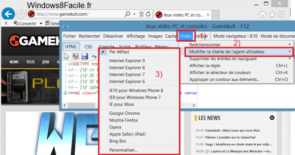 Internet Explorer 10: cambiar su agente de usuario 4