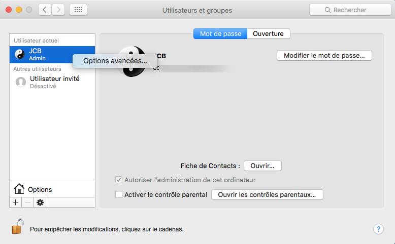 Cambiar el nombre de la cuenta del MacBook 4