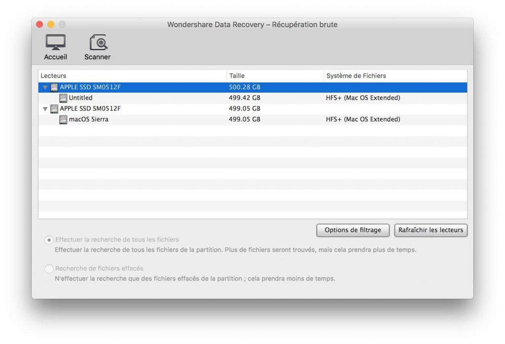 Recuperación de datos borrados en Mac OS Sierra (10.12) 5