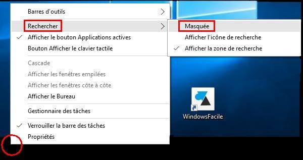 Windows 10: eliminar la barra de búsqueda 3