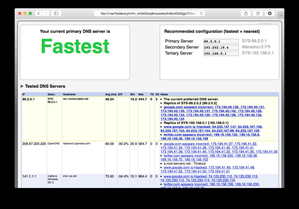 DNS Yosemite: encuentre el más rápido para acelerar el Internet 3