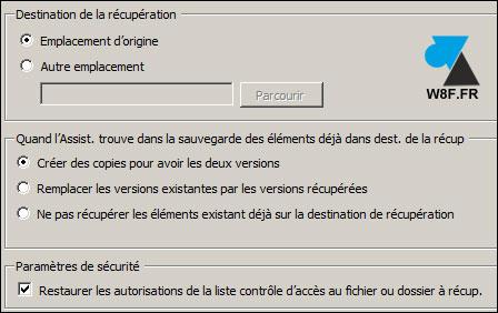 Restaurar un archivo con la herramienta Copia de seguridad de Windows Server 7