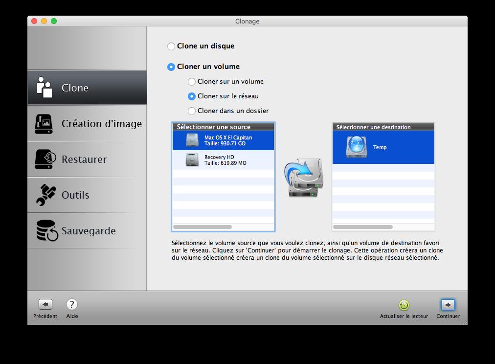Clone El Capitan Mac OS X (10.11) : copia perfecta en disco 3