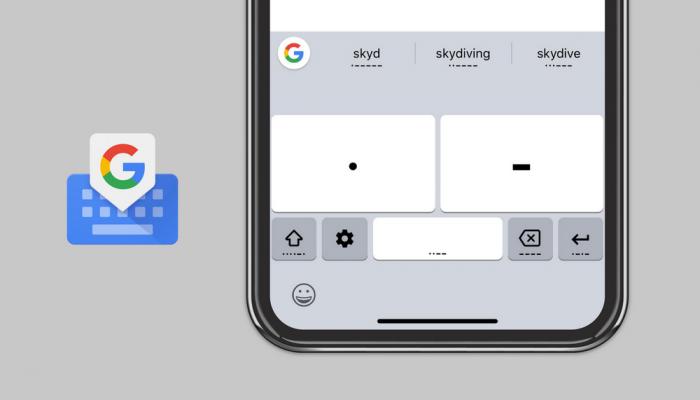 Google añade código morse al teclado de Gboard para iOS y Android 1