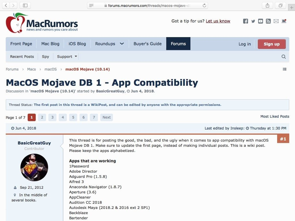 Lista de aplicaciones compatibles con MacOS Mojave (10.14) 2