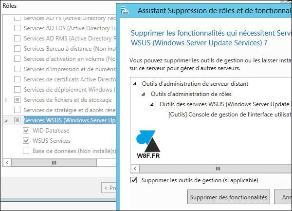 Desinstalación de un servidor WSUS 3