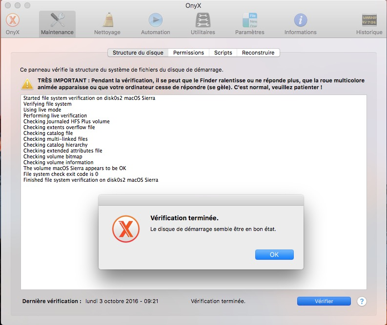 Onyx macOS Sierra (10.12) : instrucciones de uso 2