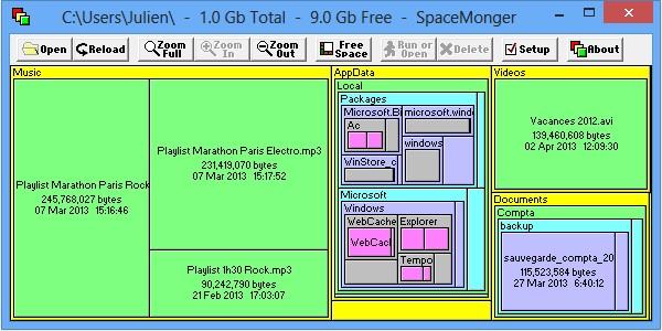 Mostrar lo que ocupa espacio en el disco duro 1